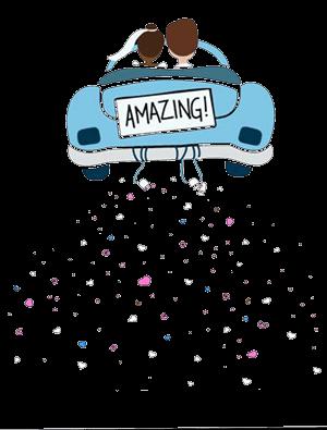 SnapDat Fotospiegel Auto Animation Hochzeit
