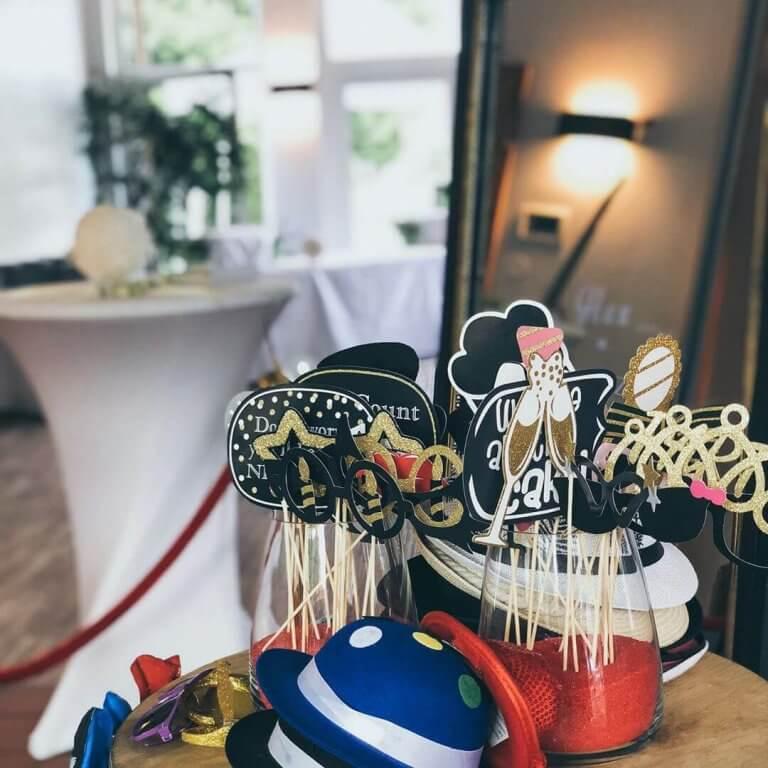 SnapDat Fotospiegel Magic Mirror auf einer Hochzeit Props