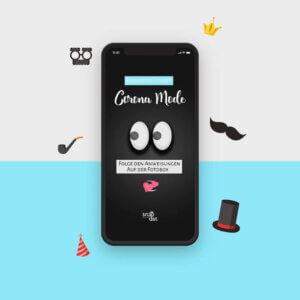 Corona Modus für Fotobox auf Hochzeitsfeier