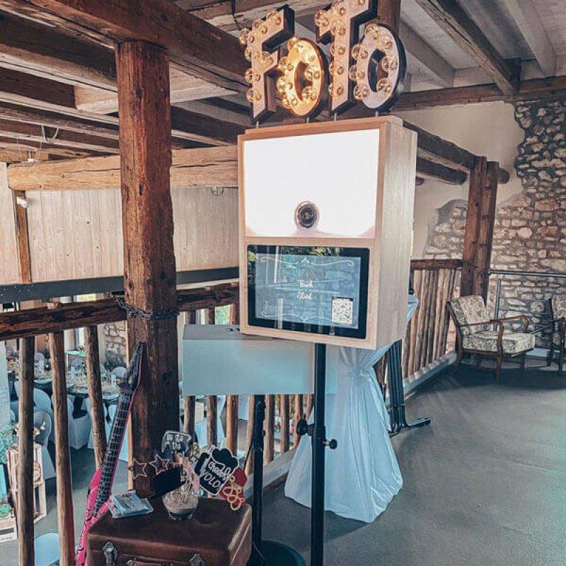 Fotobox mieten Hochzeit mit Sofortdruck Druckflatrate